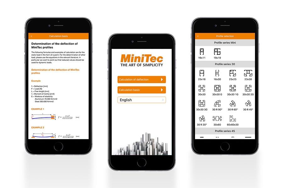 MiniTec App for iPhone and iPad