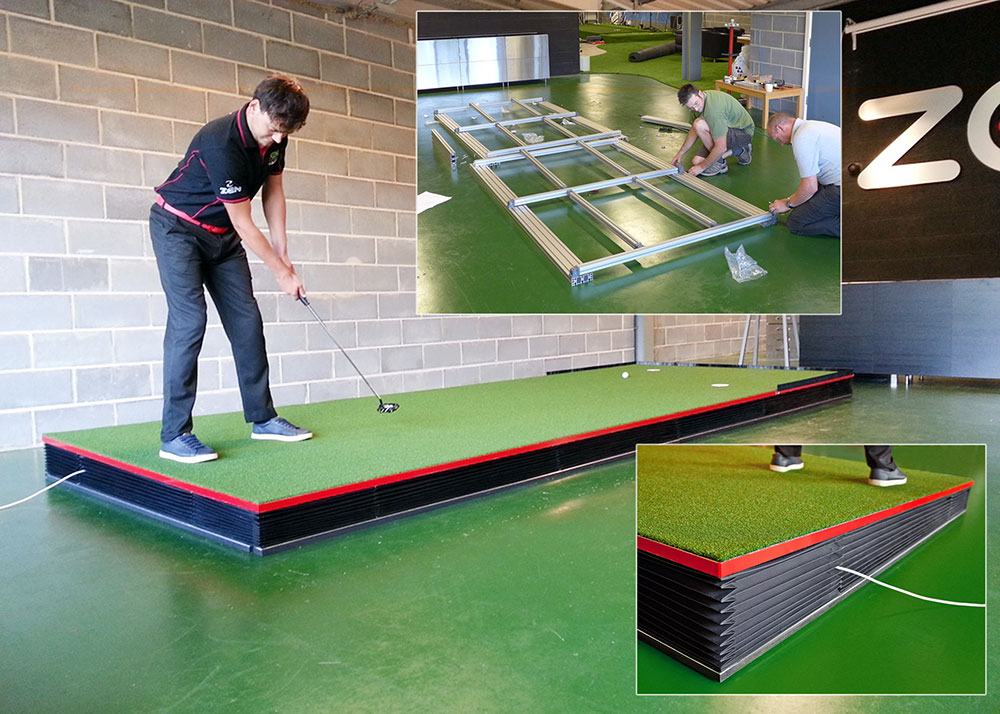 The Zen Golf Green Stage and the MiniTec framing system